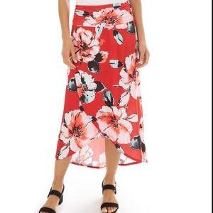 Floral Print Tulip Skirt